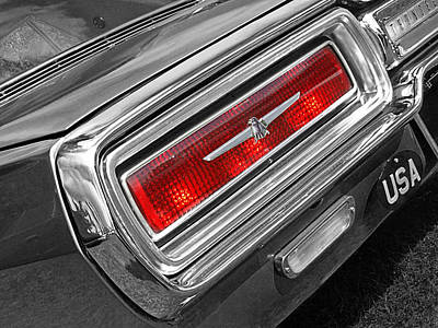 Photograph - Thunderbird Rear Lights by Gill Billington