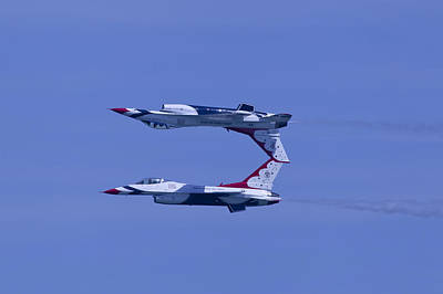 Photograph - Thunderbird Solos 5 Inverted Over 6 by Donna Corless