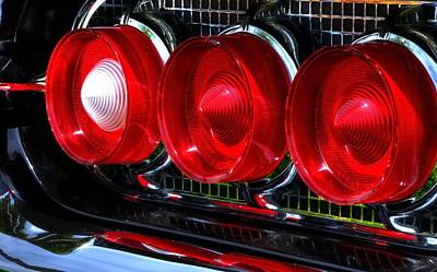 Jerry Sodorff Royalty-Free and Rights-Managed Images - Thunderbird Tail Lights 14769 by Jerry Sodorff