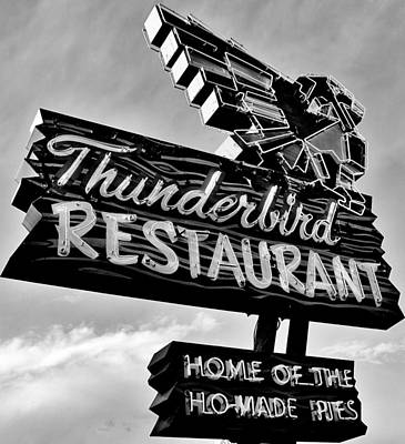 Photograph - Thunderbird Utah Black And White by Benjamin Yeager