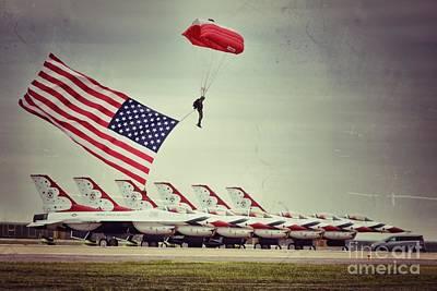 Photograph - Thunderbirds by AK Photography