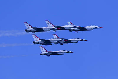 Photograph - Thunderbirds Diamond Formation All 6 by Donna Corless