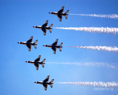 Photograph - Thunderbirds Formation by Debra Thompson