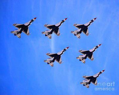 Photograph - Thunderbirds Formation Of 6 by Debra Thompson