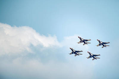 Photograph - Thunderbirds In The Clouds by  Onyonet  Photo Studios