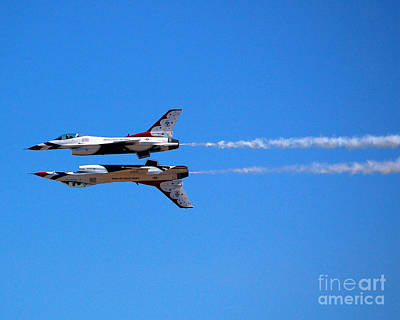 Photograph - Thunderbirds Jet Duo by Debra Thompson