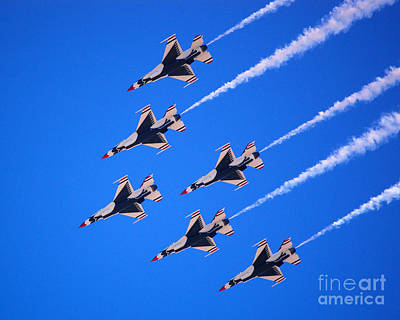 Photograph - Thunderbirds Jet Team Flying Fast by Debra Thompson