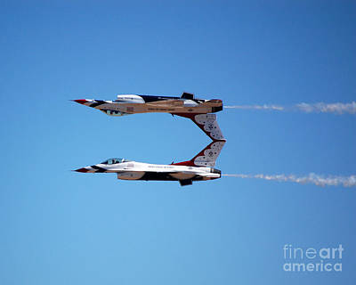 Photograph - Thunderbirds Jet Team Perfect Symmetry by Debra Thompson