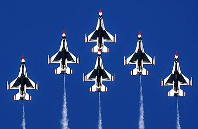 Photograph - Thunderbirds Vertical by Benjamin Yeager