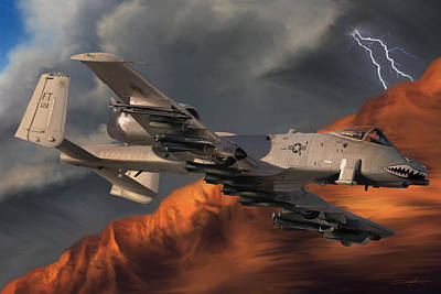 Dale Digital Art - Thunderbolt II by Dale Jackson