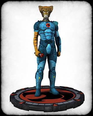 Digital Art - Thundercats 3000 - Tygra V1 by Frederico Borges
