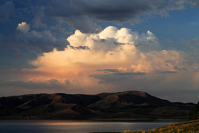 Photograph - Thunderhead Over Strawberry by TL  Mair