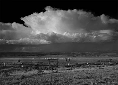 Photograph - 1m9401-bw-thunderhead Over Wind River Mountains by Ed  Cooper Photography