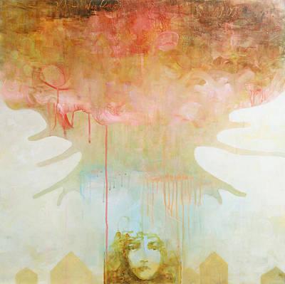 Drip Painting - Thunderhead by Sandra Cohen