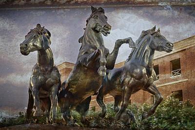 Bronze Horse Photograph - Thundering Mustangs by Joan Carroll