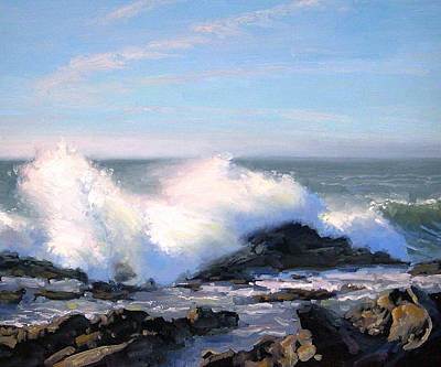 Pacific Grove Painting - Thundering Sea by Armand Cabrera