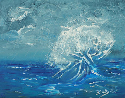 Painting - Thundering Sea by Donna Blackhall