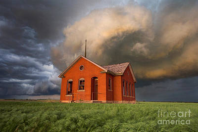 One Room Schoolhouse Photograph - Thunderous Plains by Jill Van Doren Rolo