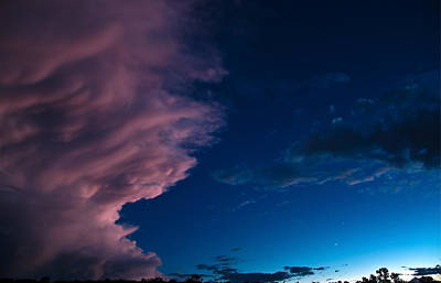 Photograph - Thunderstorm At Dusk by Eric Rundle