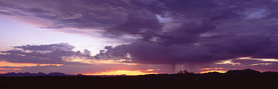 Arizona Lightning Photograph - Thunderstorm Clouds At Sunset, Phoenix by Panoramic Images