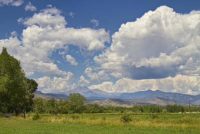 Thunderstorm Clouds Boiling Over The Colorado Rocky Mountains Art Print