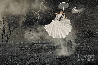 Digital Art - Thunderstorm by Jutta Maria Pusl