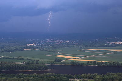 Photograph - Thunderstorm Over Connecticut River Valley From Mount Holyoke by John Burk