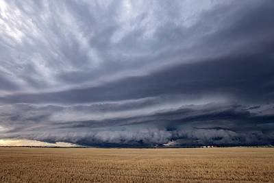 July 2013 Photograph - Thunderstorm Over Field by Roger Hill