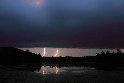 Photograph - Thunderstorm Over Pond by John Burk