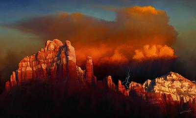 Thunderstorm Over Sedona Print by Dale Jackson