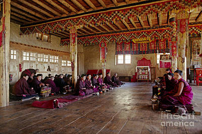 Sangha Photograph - Thuptencholing Monastery - Solu Valley Nepal by Craig Lovell