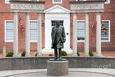 Photograph - Thurgood Marshall Memorial I by Clarence Holmes