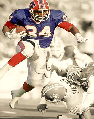 Ladainian Tomlinson Digital Art - Thurman Thomas by Brian Reaves