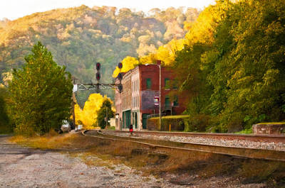 Old Town Digital Art - Thurmond Wv Oil by Steve Harrington