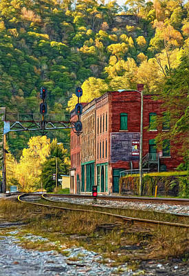 Old Town Digital Art - Thurmond Wv - Paint by Steve Harrington