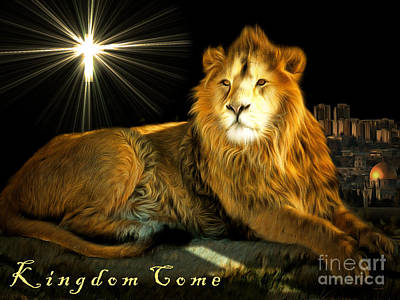 Kitty Digital Art - Thy Kingdom Come 201502113brun With Text by Wingsdomain Art and Photography