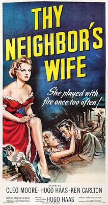 Cleo Photograph - Thy Neighbors Wife, Us Poster Art by Everett