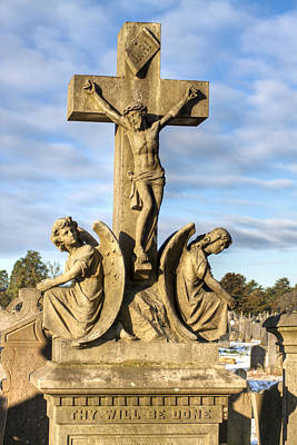 Photograph - Thy Will Be Done - Glasnevin Dublin Cross by Mark E Tisdale