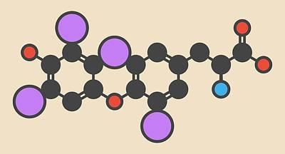 Thyroxine Thyroid Hormone Molecule Art Print by Molekuul