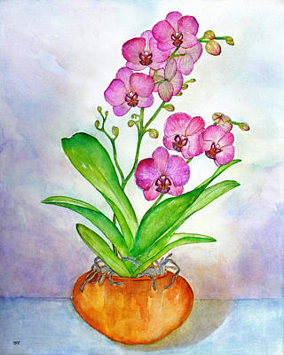 Painting - Ti Amo Orchid by Janet Immordino