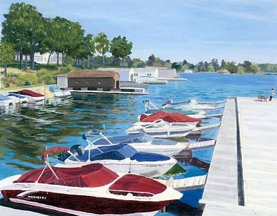 Thousand Islands Painting - T.i. Park Marina by Lynne Reichhart