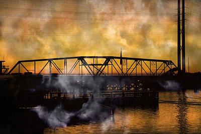 Ti Swing Bridge Ghost Art Print by Betsy Knapp