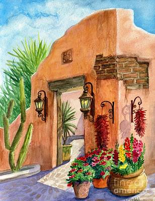 Terra Cotta Painting - Tia Rosa Time by Marilyn Smith