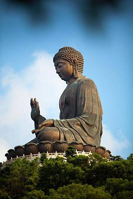 Photograph - Tian Tin Buddha, Po Ling Monastery by Huw Jones