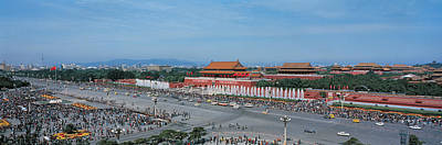 Bus Photograph - Tiananmen Square Beijing China by Panoramic Images
