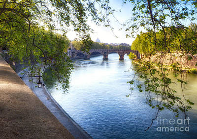 Modern Man Surf - Tiber River Spring Scenic by George Oze