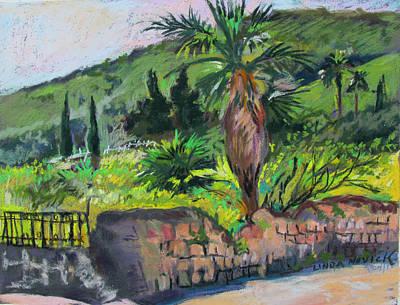 Art Print featuring the painting Tiberius Israel by Linda Novick