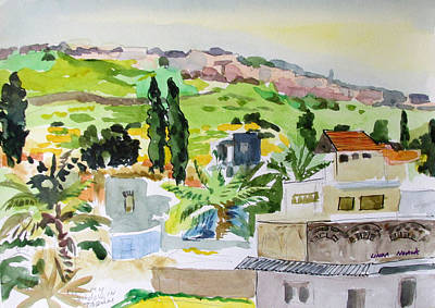Painting - Tiberius Rooftops by Linda Novick