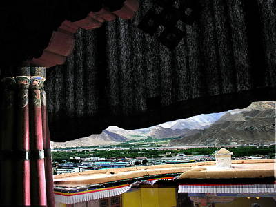 Photograph - Tibet - Lhasa - Potala Palace - Vew Of The Dali Lama by Jacqueline M Lewis