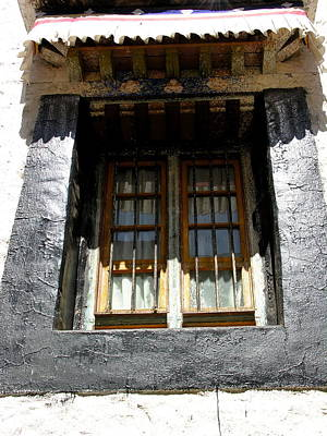 Photograph - Tibet - Lhasa - Windows by Jacqueline M Lewis